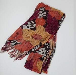 Floral Fall Tones Scarf